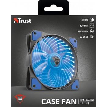 Trust (22347) Gxt 762B LED Illuminated Silent PC Case Fan - Black/Blue