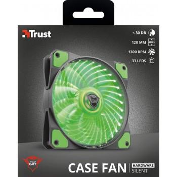 Trust (22348) gxt 762g led Illuminated Silent pc Case fan - Black/green