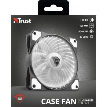 Trust (22346) gxt 762w led Illuminated Silent pc Case fan - Black/white