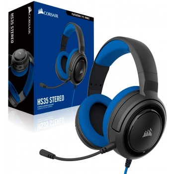 Corsair Stereo Gaming Headset HS35 Blue CA-9011196-EU (Mobile,PS4,Xbox One,Switch)