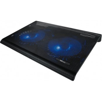 "Trust (20104) Cooling Stand Trust Azul With Dual Fans for 17.3"" Laptop"