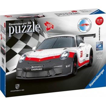 Ravensburger 11147 Πάζλ 3D 108τεμ. Porsche GT3 Cup