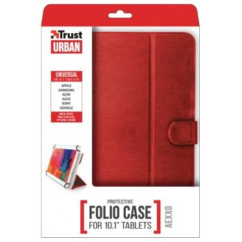 """Trust (21206) Aexxo Universal Folio Case 10.1"""" Red"""