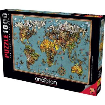 Anatolian παζλ 1000τεμ. - Ο χάρτης των πεταλούδων 1029 από τον Garry Walton