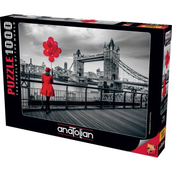 Anatolian παζλ 1000τεμ. - Κόκκινο μπαλόνι στη Γέφυρα 1040 από τον Assaf Frank
