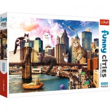 Trefl Πάζλ 1000τεμ. Funny Cities - New York Cats 10595