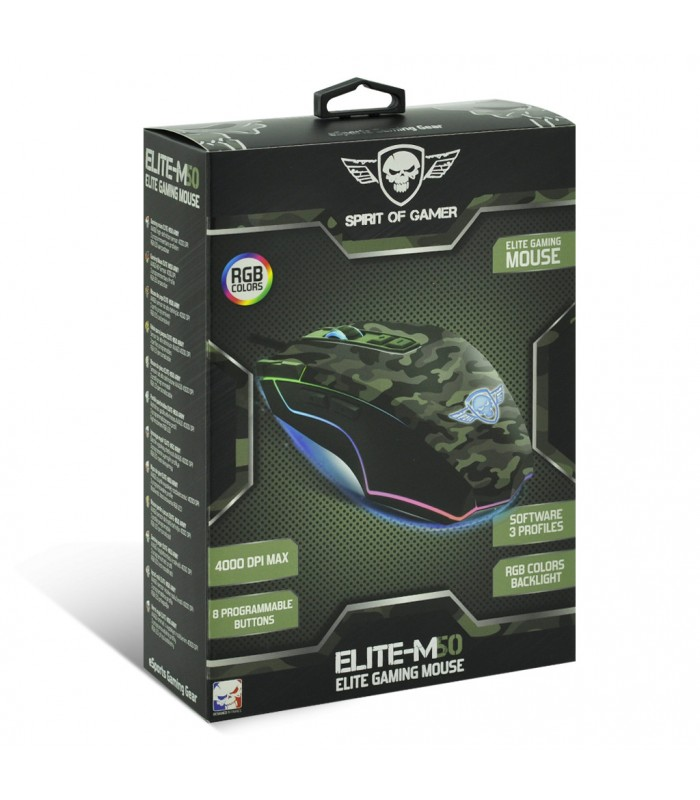 Spirit Of Gamer Gaming Mouse ELITE M50 ARMY Edition (S-EM50A)