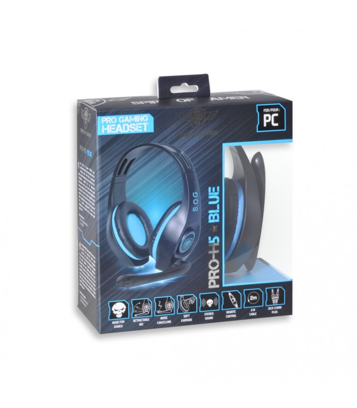 Spirit Of Gamer PRO-H5 BLUE Edition PC/PS4/XBOX ONE Gaming Headset (MIC-G715BL)