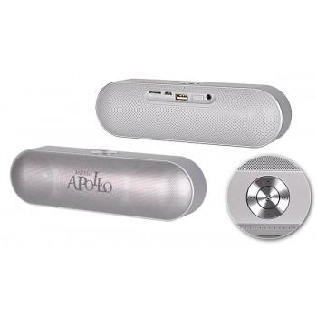 Bluetooth Ηχείο Apollo με ράδιο ασημί