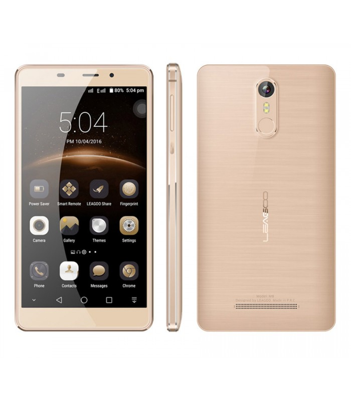 "Leagoo Smartphone M8, 3G, 5.7"" HD, Quad-Core, χρυσό"