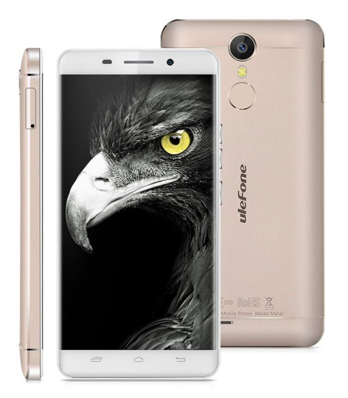 "Ulefone Smartphone Metal, 4G, 5"" IPS, 3GB RAM, Octa-Core, χρυσό"