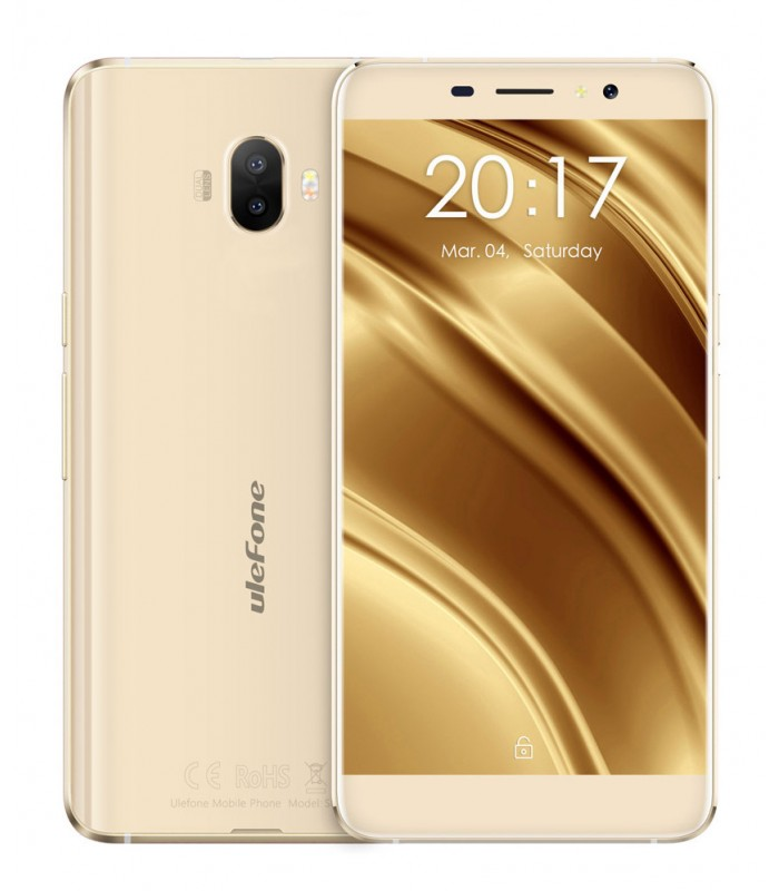 "Ulefone Smartphone S8, 5.3"" HD, 2GB/16GB, Quad Core, Dual Camera, χρυσό"